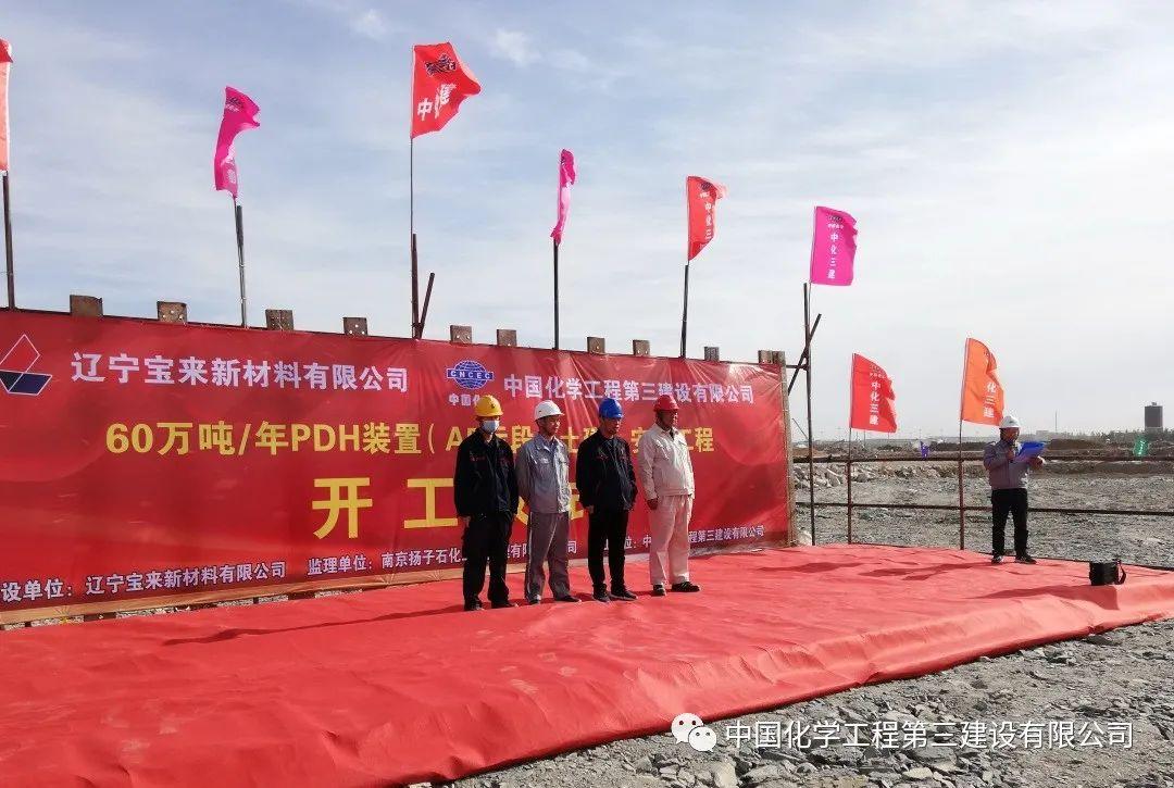 辽宁宝来60万吨/年PDH装置(A5)标段举行开工仪式
