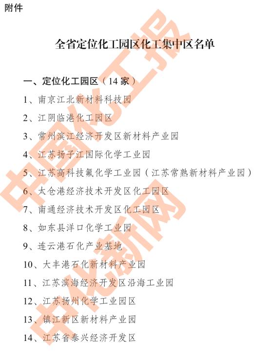 """14+15!江苏化工园区、集中区名单公布!""""两区""""有啥差异?"""