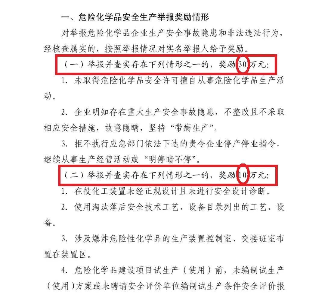 山东出台:《山东省安全生产举报奖励办法》 最高奖励50万